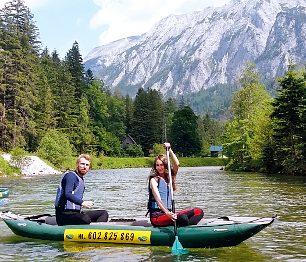 Řeka Ybbs i střední Salza nabízejí jednoduché peřeje v nedalekém Rakousku