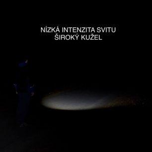 Nízká intenzita svitu a široký kužel čelovky Ledlenser MH5 / F: Martin Slezáček
